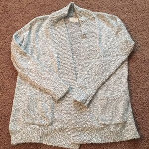 EUC LOFT Lou & Grey Open Cardigan Sweater